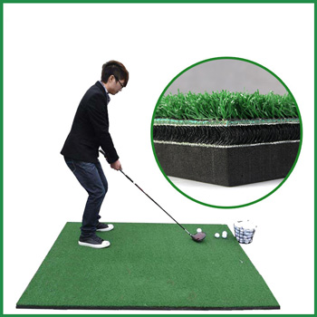 3D Golf driving range practice hitting and stance mat