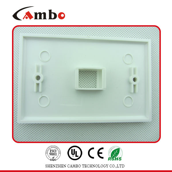 High performance 1/2/4 Port Australia wall plate cat 6 rj45 surface mount jack