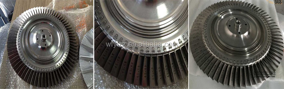 locomotive turbocharger parts superalloy casting turbine disc