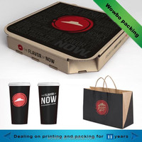 2016 hot sale creative fast food packaging design for pizza