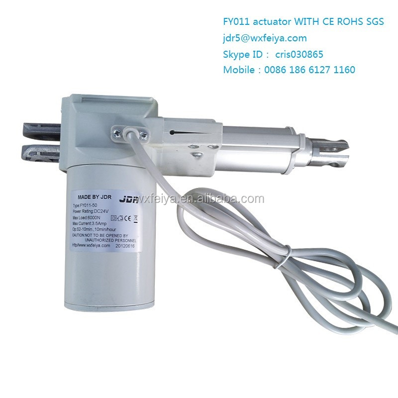 Cheap electric linear actuator 300mm FY011 for furniture parts,medical equipment,modern home TV cabinet