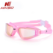 High quality prescription safety glasses colorful coating mirror anti fog silicone swimming goggles