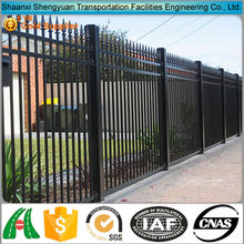 Wrought metal iron picket fence