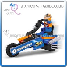Mini Qute DIY kawaii city boy racing motorcycle car vehicle action figure plastic building block brick educational toy NO.25306