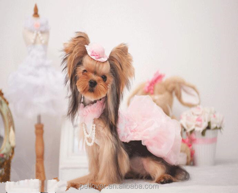Princess pet wedding dress pet skirt clothes