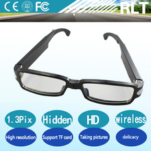 YSJ-W-SM11 digital mini wireless glasses outdoor spy hidden camera with video ,tf card .recording and night vision