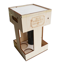bordeaux wine box crate carrier