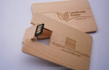 High quality raw wood material personalized logo branding wooden business card shape 2GB, 4GB usb flash drive memory pendrive