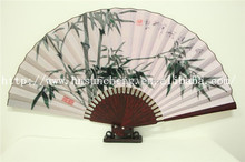 SBFJ2002 Vintage Chinese/Japanese Fans Wall Hanging Home Decor Bamboo Cloth Fan
