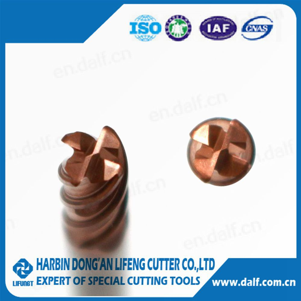 made in China carbide end mill milling cutter with coating