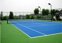 ITF certification SI PU sports flooring for badminton court/