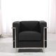 Modern design replica le corbusier comfortable home furniture one seat sofa