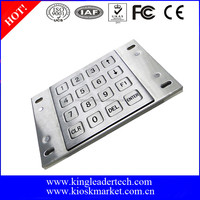 Customized numeric metal keypad for industrial machines with USB interface