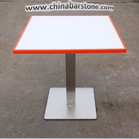 Artificial Marble/acrylic solid surface heavy-duty dining table and chairs furniture for restaurant