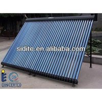 Pressurized heat pipe evacuated glass solar collector 30 tubes