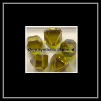 Yellow color Rough Diamond crystal with 2-4mm,4-6mm