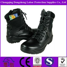 Waterproof Army Canvas Boots in Black