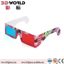 3D Paper Carboard Glasses Promotional custom printed Anaglyphic paper 3d glasses