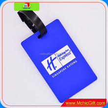 Custom color shape size cartoon soft pvc pop out id tag plastic straps,luggage tag