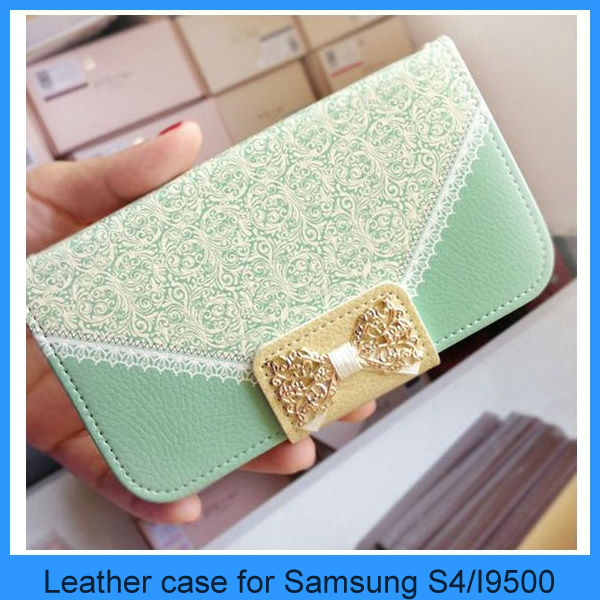 Leather case for Samsung galaxy S4 s3 S5 Note 2 3 Wallet Card Holder Leather Flip Case Cover(PT-S4L291)