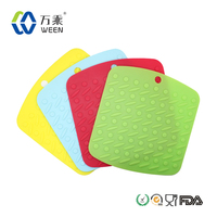 Heat resistant silicone hot pot holder,silicone table pad,silicone place mat