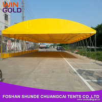 12m Galvanized steel frame car shelter push and pull car storage tent