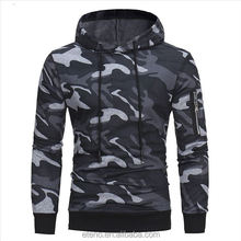 Men's Military Camouflage Fleece Jacket Army Tactical Clothing Camo Zipper Hoodie
