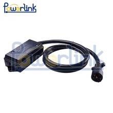 H90068 7-way Plug Inline Trailer Cord with 7-Gang Junction box