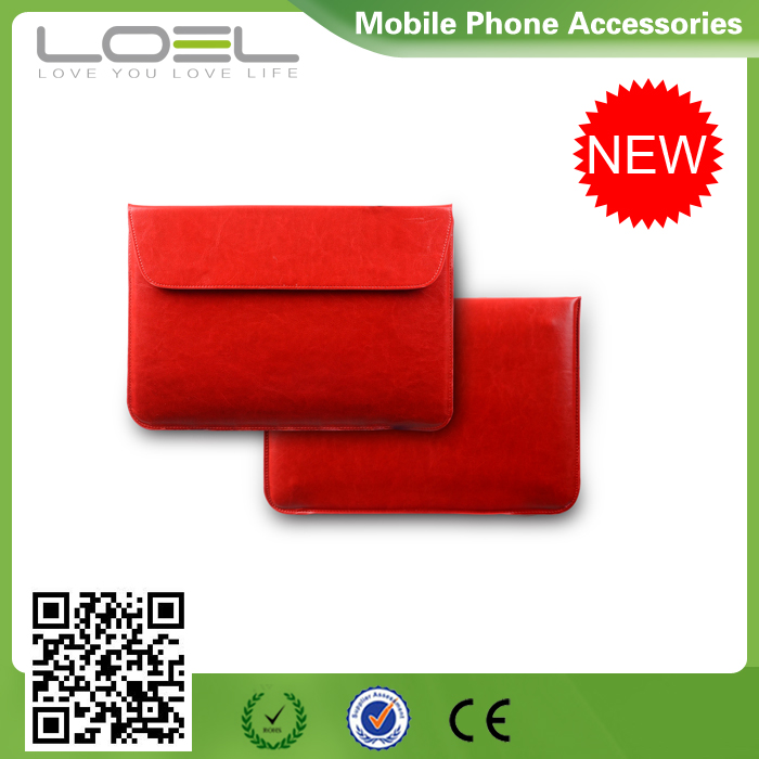 Soft Envelope Sleeve Laptop Tablet Leather Case , Leather Laptop Bag, Leather Laptop Sleeve for Tablet