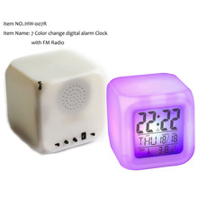 Digital FM Radio with Cube LCD Color Change Clock