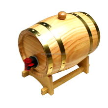 Decorative mini 3L beer barrel craft wooden whiskey barrel