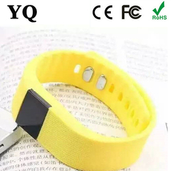 OEM logo Smart blacelet remote control vibrating led bluetooth bracelet tw64 with pedometer,sleep monitor,Call Reminder for ipho