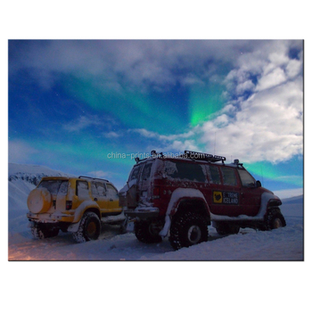 Extreme Iceland Picture Giclee Artwork SUV in Snow World for Living Room Bedroom Decoration Wholesale