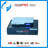 Tocomfree S929 Receiver with Twin Tuner SKS,IKS Free with wifi ,3G,Youtube function satellite receiver for South America