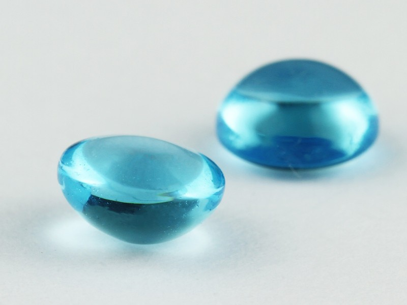 Hot Sale Decorative Round Cut Milky Blue Glass Turquoise Stones