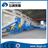 Plastic PET water bottle recycling cleaning line