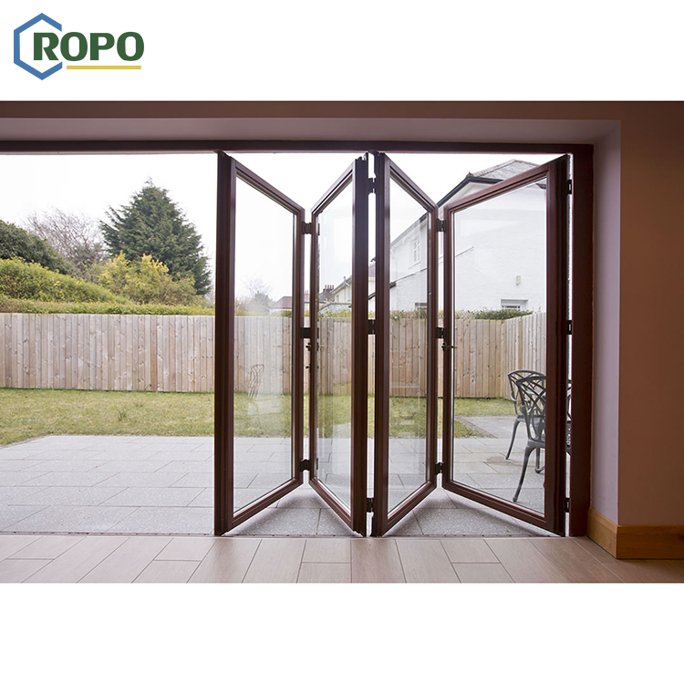 10 Year Warranty China Aluminum Balcony Patio Foldable Glass Folding Door Manufacture