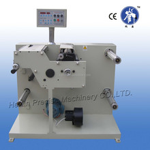 Small roll label slitter rewinder machine