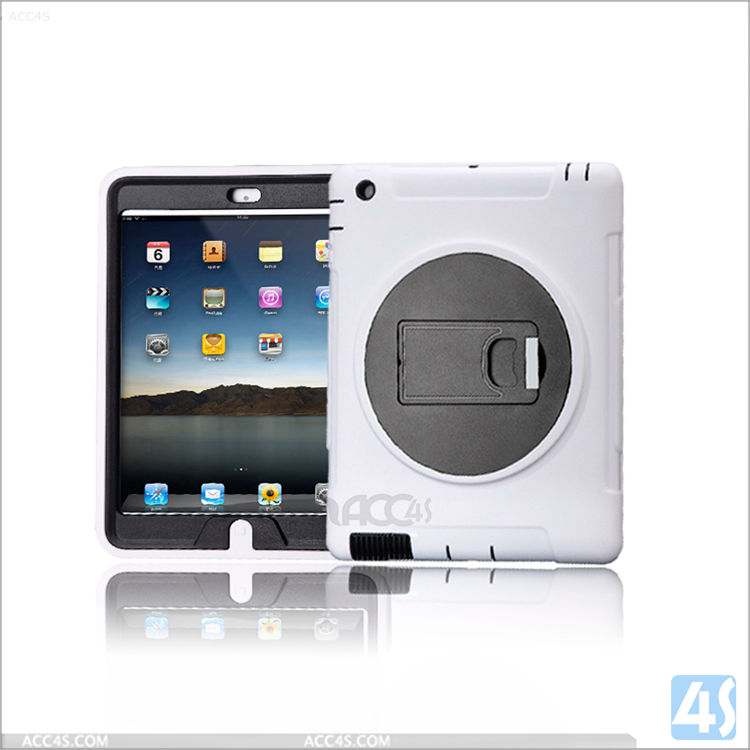PU Waterproof tablet case for iPad 4,360 Rotation Anti Shock Kick Stand Case for iPad 4 3 2 ,flip cover case for tablet