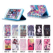 Colorful Mobile phone PU Leather Wallet Cover Case For iPhone 6 Plus/6S Plus