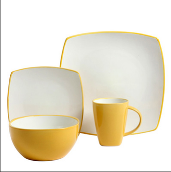 yellow and white square dinnerware wholesale square dinnerware sets