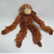 custom long arms and legs monkey plush toy for zoo wild animal