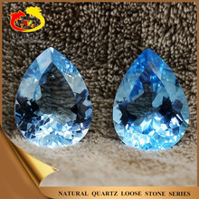 Good polishing Brilliant cut Pear Natural Blue Topaz