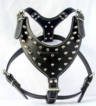 PU Leather Spiked Large Dog Harness