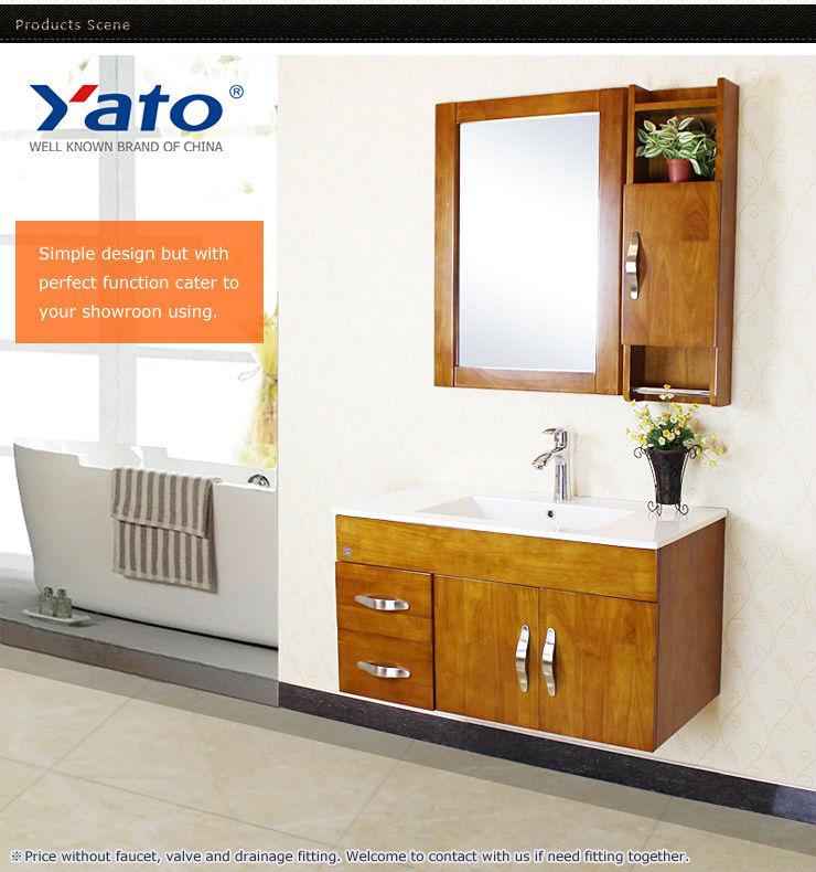 Wood / wooden bathroom furniture vanity sanitary ware set
