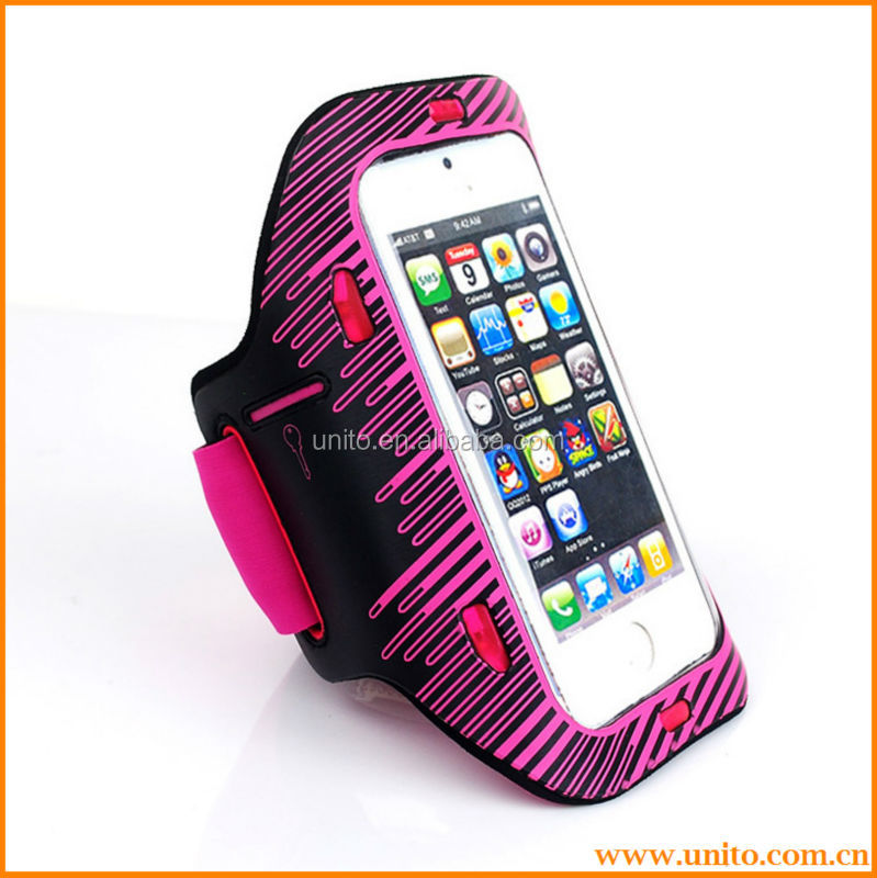 LED Light Sports Running Jogging Gym Armband Case Cover Holder For iPhone5 5S 5C