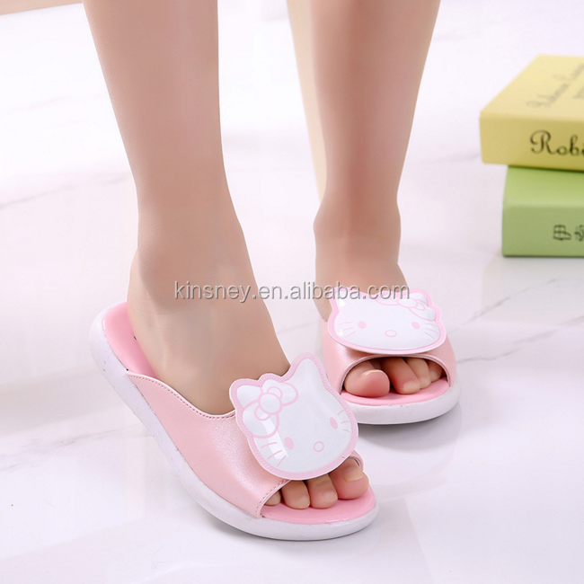 KS00225C Fashion style summer casual cartoon sweet color children kids latest sandals custom slides