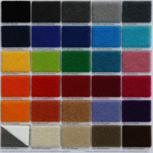 Colored Felt 100% Polyester Washable Carpet