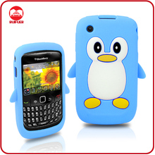 High Quality Animal Design Rubber Penguin Mobile Phone Case for Blackberry Carve 8520