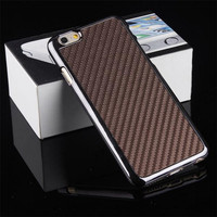 Luxurious Unique real carbon fiber phone case for Iphone 6 for Apple 6